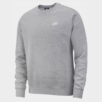 Nike Fund Fleece Crew, Sweatshirt gris pour homme