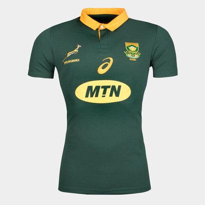 Asics Springboks Afrique du Sud 2017/18 - Maillot de Rugby Pro Domicile