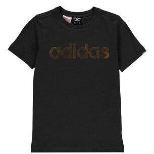 adidas Linear Foil T Shirt Junior Boys