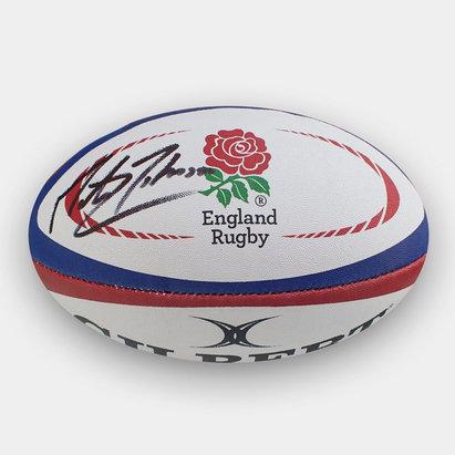 -- Ballon de Rugby signé par Martin Johnson