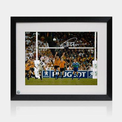 -- Photo encadrée de la Coupe du monde de rugby de 2003 avec la signature de Jonny Wilkinson