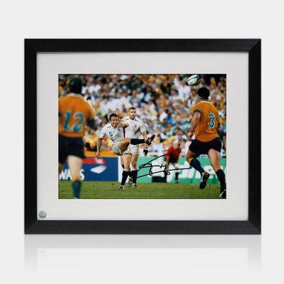 -- Photo encadrée de la Coupe du monde de rugby 2003 avec la signature de Jonny Wilkinson