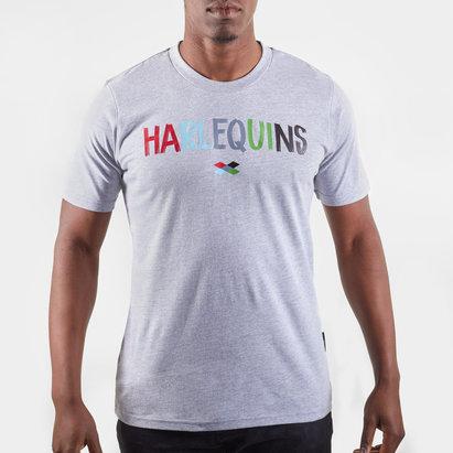 T-shirt de Rugby gris pour hommes, Harlequins
