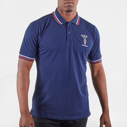 Polo de Rugby bleu pour hommes, Harlequins