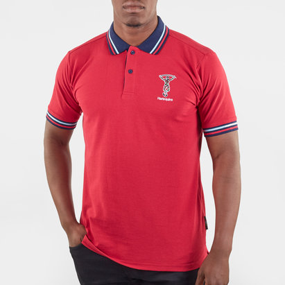 Polo de Rugby rouge pour hommes, Harlequins