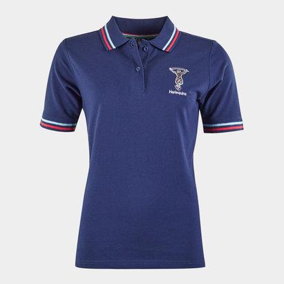 Polo de Rugby bleu pour femmes, Harlequins