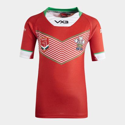 VX3 Maillot de Rugby pour enfants, Pays de Galles Rugby League 2019/20 domicile