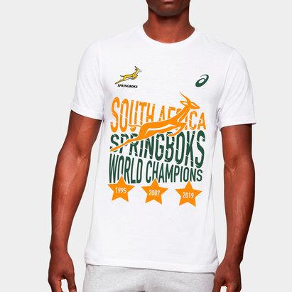 Asics T-shirt de Rugby Springboks d'Afrique du Sud Champions du Monde