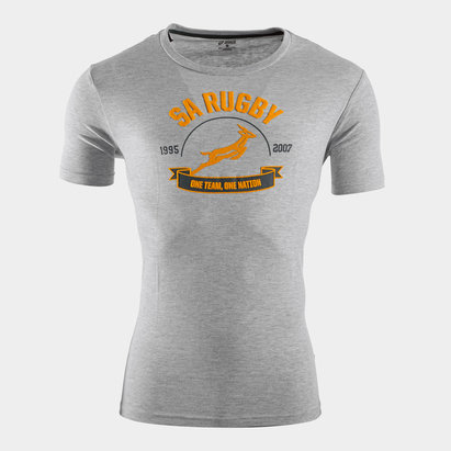 Asics T-shirt de Rugby, Springboks d'Afrique du Sud 1 Nation