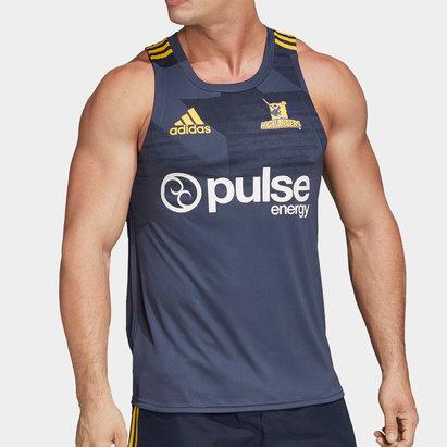 adidas Débardeur d'entraînement de Rugby, Highlanders 2020