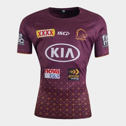 ISC T-shirt d'entraînement de Rugby, Brisbane Broncos NRL 2020