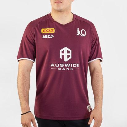 ISC T-shirt d'entraînement de Rugby Joueurs, Queensland Maroons NRL 2020