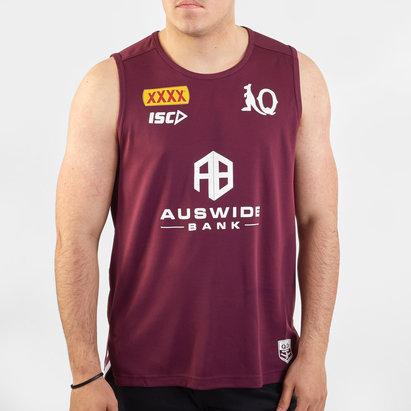 ISC Débardeur d'entraînement de Ruby Joueurs, Queensland Maroons NRL 2020