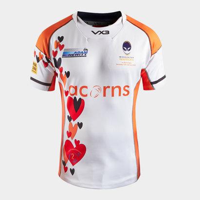 VX3 Maillot de Rugby Charité 2020 Worcester Warriors, pour enfants