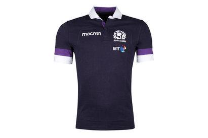 Macron Ecosse 2017/18 - Maillot de Rugby Réplique Domicile Coton