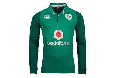Canterbury Irlande IRFU 2017/18 - Maillot de Rugby Classique Domicile M/L