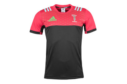 adidas Harlequins 2017/18 - T-Shirt de Rugby Performance des joueurs