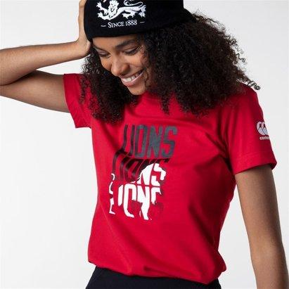 Canterbury British and Irish Lions Graphic T Shirt Ladies