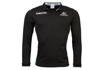 Macron Glasgow Warriors 2017/18 - Maillot de Rugby Classique Domicile en Coton M/L