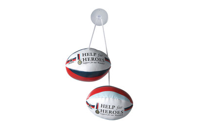 Gilbert Help for Heroes - Set de Ballon de Rugby à Accrocher