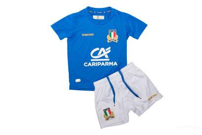 Macron Italy 2017/18 - Kit de Rugby Réplique Domicile Petits Enfants