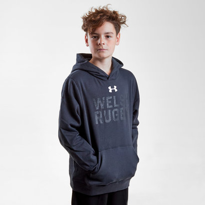 Under Armour Pays de Galles WRU 2017/19 - Sweat de Rugby Graphique à Capuche Enfants