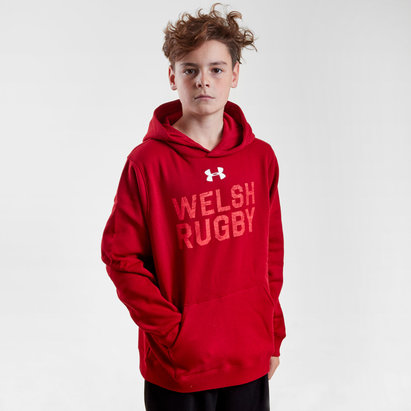Under Armour Pays De Galles WRU 2017/18 - Sweat de Rugby Graphique à Capuche Enfants