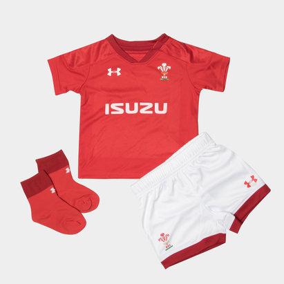 Under Armour Pays De Galles WRU 2017/18 - Kit de Rugby Réplique Domicile Jeunes Enfants