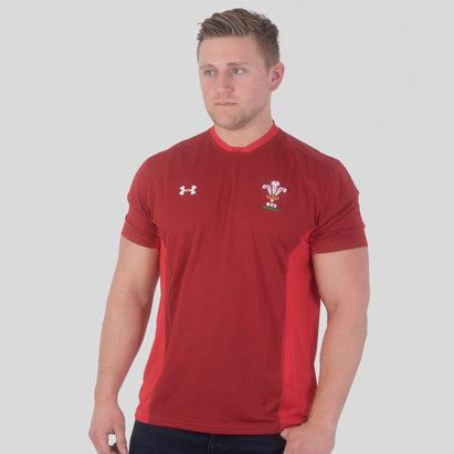 Under Armour Pays de Galles WRU 2017/18 - T-Shirt Entraînement de Rugby Joueurs
