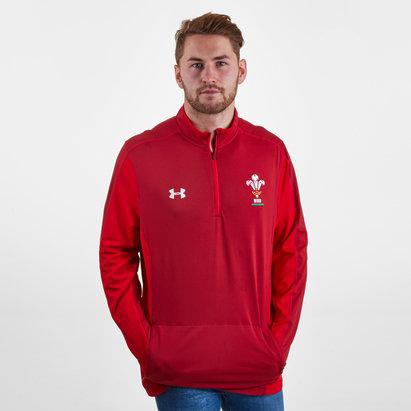 Under Armour Wales WRU 2017/19 - Haut Entraînement de Rugby 1/4 Zippé Joueurs