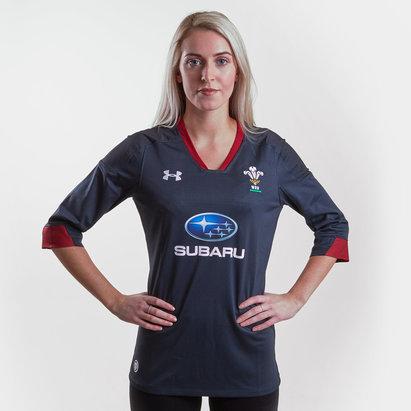 Under Armour Pays de Galles WRU 2017/18 - Maillot de Rugby Réplique Alterné Femmes