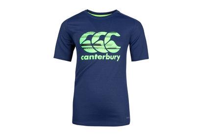 Canterbury Vapodri Poly Logo - T-Shirt Entraînement de Rugby Enfants