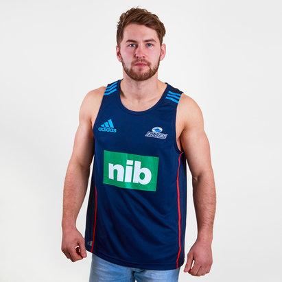adidas Blues 2018 - Débardeur Entraînement de Super Rugby Joueurs