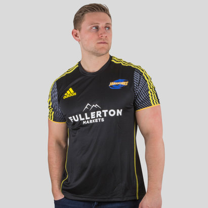 adidas Hurricanes 2018 - T-Shirt de Super Rugby Performance Joueurs