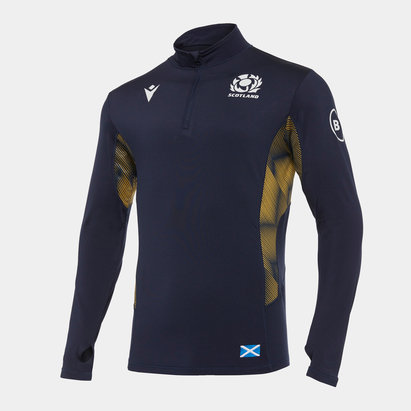 Macron Scotland Quarter Zip Training Top Mens