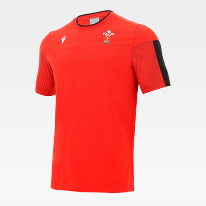 Macron Wales Travel T-Shirt Junior