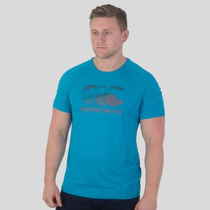 Canterbury Vapodri - T-Shirt Poly Logo Large