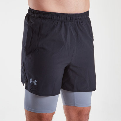 Under Armour Qualifier - Short 2 en 1