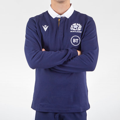 Macron Scotland Classic Long Sleeve Home Shirt 2020 2021
