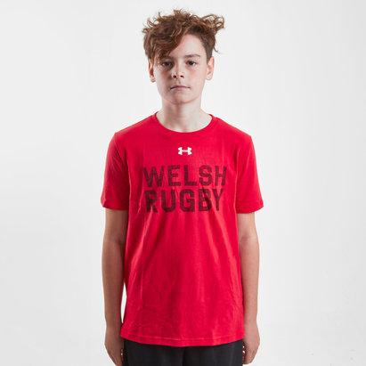 Under Armour Pays de Galles WRU 2017/18 Enfants - T-Shirt de Rugby Graphique