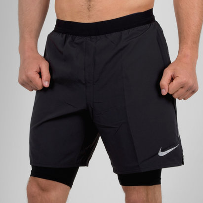 Nike Distance 2 en 1 - Short 18cm de Course