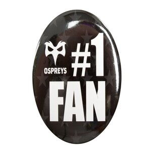 Ospreys Rugby Grand Badge Rond No 1 Fan