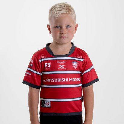 X Blades Maillot de rugby manches courtes pour enfant Gloucester saison 2018/2019