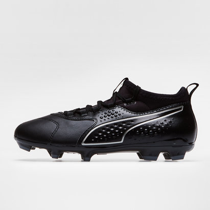 Puma One 3 Leather FG - Crampons de Foot Enfants