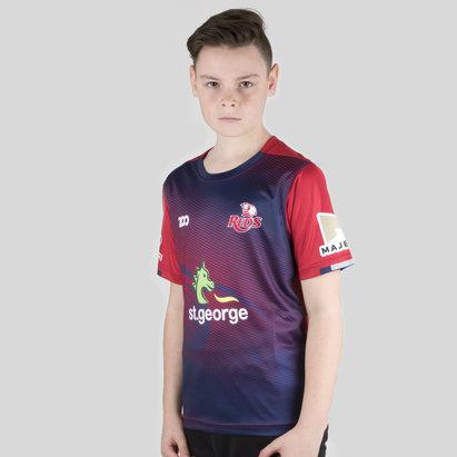 Zoo Sport Queensland Reds 2018 - T-Shirt de Super Rugby Échauffement Enfants