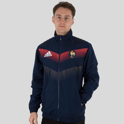 adidas France 2018 - Veste Rugby Présentation Joueurs