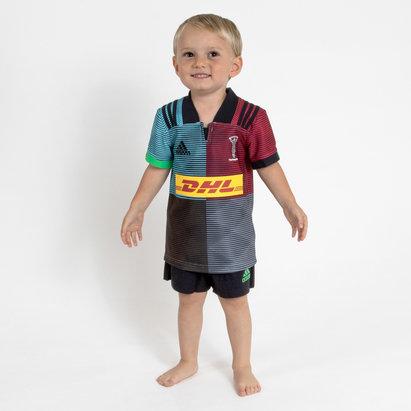 adidas Harlequins 2018/19 - Kit de Rugby Réplique Domicile Enfants