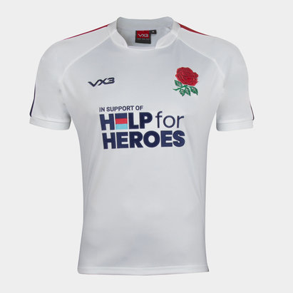 VX-3 Help 4 Heroes England Short Sleeve Jersey Mens
