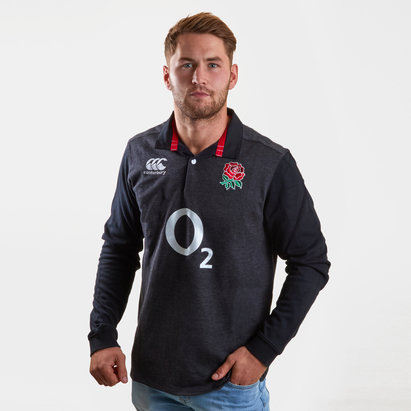 Canterbury Angleterre 2018/19 - Maillot de Rugby Classique M/L Alterné