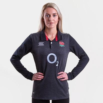 Canterbury Angleterre 2018/19 - Maillot de Rugby Classique M/L Alterné Femmes